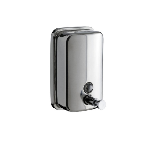 Inox soap dispenser and holder
